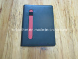 A5 PU Leather Bound Ring Notebook with Pen Loop