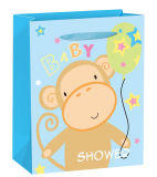 Very Cute Glitter & 3D Gift Paper Bag with Tag