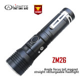 Zoomable, USB Rechargeable, Adjustable Head, Multitask Flashlight in High Lumens 800lm 1312 Feet Beam Distance for Hunting, Camping, Night Riding