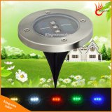 Solar Light 3 LED Underground Lamp Solar Garden Lawn Light with Green Blue Red White Warm White Color