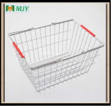 20 Liters Steel Wire Chrome Plated Shopping Basket Mjy-Ts01