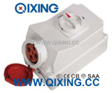 32A 4p Red Interlocked Receptacle Switch