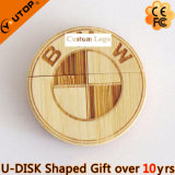 Round Wooden USB Pendrive for Branding Gifts (YT-8140)