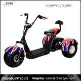1000W60V Front Back Suspension New Citycoco Harlley Three Wheel Electric Scooter/Cheap Electric Trike /E-Bicycle