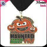 Promotion Custom Halloween Pumpkin Metal Medal