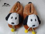 Free Sample Plush Puppy Emoji Slipper Hot Wholesale