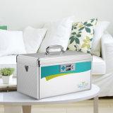 Aluminum Portable First Aid Box Locking Storage Box with Belt Silver R8031