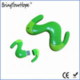 Earthworm Style PVC USB Memory Driver (XH-USB-082)