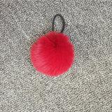 Charm Key Ring Rabbit Fur Ball Pompom Cell Phone Keychain