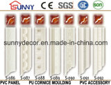 Polyurethane Foam Deocration Material Plain PU Cornice