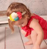 Baby Girl Flower Elastic Hairband Baby Crochet