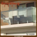 Stainless Steel Glass Balcony Railing with Glass Spigot (SJ-H100)