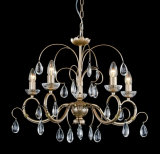 Top Sale Antique Smooth Gold Iron Tear Crystal Chandelier