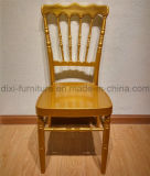 Wedding Aluminum Napoleon Chair with Mobile Seat Cushion