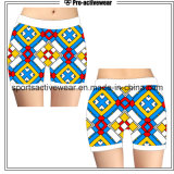 Hot Sale Custom Made Sublimation Printing Women Polyester Gym Shorts
