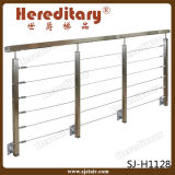Wall Mounted 304 Stainless Steel Terrace Cable Wire Railing (SJ-H1128)