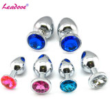 Small Size Metal Anal Plug 12 Colors Silver Jeweled Butt Plug