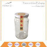 455ml Glass Honey Bottle with Metal Cap, Logo, Label Can Be Printed