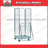 Foldable Galvanized Plating Warehouse Logistic Roll Cages