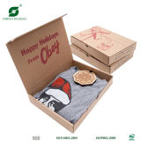 Recyclable Flat Pack Corrugated Cardboard T Shirt Packaging Boxes