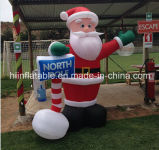Christmas Xmas Inflatable Santa Clause Outdoor Indoor Yard Decor Lighted