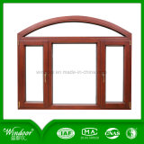 Top Quality Arch Style Aluminum Wood Window Design with Roto Hardware