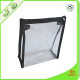 PVC Bag with Zipper Color Full Edge Stitching