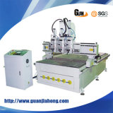 Multi Workstage, Pneumatic Three Heads, 1325 Wood Working CNC Router