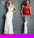 Free Shipping 2014 Hot Sexy White Red Chiffon Prom Evening Dresses Sheer Illusion Back 2014 Amazing