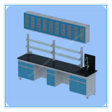 China Supplier Steel Wood Lab Bench with Wall Cabinet