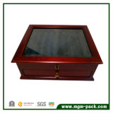 Luxury Wooden Fountain Display Pen Box with Drawer