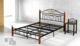Cheap Modern Strong Popular Painting Steel Bed (B-508#)