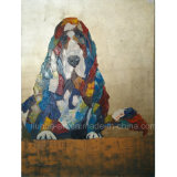 Modern Animal Dog Painting on Canvas for Home Decoration (LH-142000)
