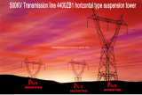 Megatro 500kv Transmission Line 4400zb1 Horizontal Type Suspension Tower