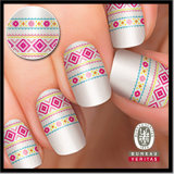 Supply Best Quality Tribal Pattern 10PCS Nail Art OEM Acceptable