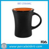Black Orange Inside Ceramic Coffee Dinner Mug