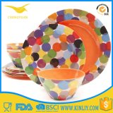 FDA Melamine Plastic Bowl Plates Dishware Dinnerware Colorful Tableware Set