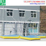Inflatable Bungee Jumping Trampoline for Sale, Adult Bungee Trampoline