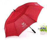 Big Size Double Canopy Polyester Windproof Golf Umbrella