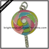 Enamel Lollipop Rhinestone Metal Jewelry for Souvenir (BYH-10421)