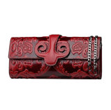 High Quality Chinese Style Shoulder Chain Leather Clutch Bag for Ladies