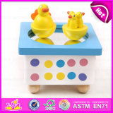 2015 Handmade Wooden Toy Music Box Toy, Lowest Price Wooden Music Box Toy, Best Selling Beautiful Carousel Music Box Toy W07b002