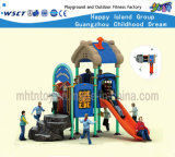 House Type Kids Outdoor Playsets Backyard Playground Hf-16302