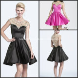 Mini Homecoming Gowns Beads A-Line Cocktail Dresses Y2021