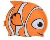 Swim Cap, Waterproof Earmuffs Silicone Swim Cap for Kids