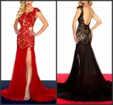 1 PC Drop Shipping Black Lace Evening Dress Custom Designer Prom Dress (EU09)