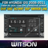 Witson Car DVD Player with GPS for Hyundai I20 (W2-D8900Y)