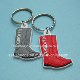 Customized Boot Soft PVC Keyrings for Special Gifts