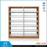 China High Quality Steel Book Rack Cabinet / Library Book Rack