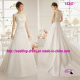 Charming Satin Lace Bridal Dress Wedding with Belt